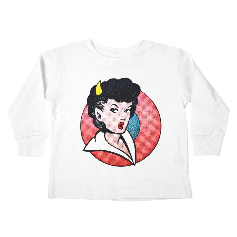 Devil Girl Kids Toddler Longsleeve T-Shirt by megatrip's Artist Shop