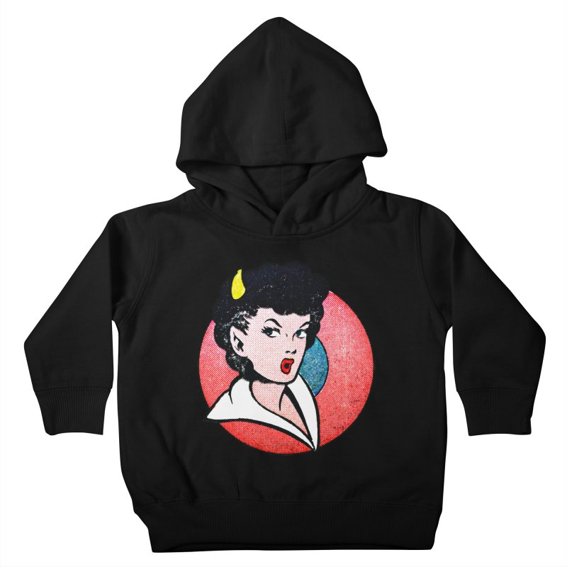 Devil Girl Kids Toddler Pullover Hoody by megatrip's Artist Shop