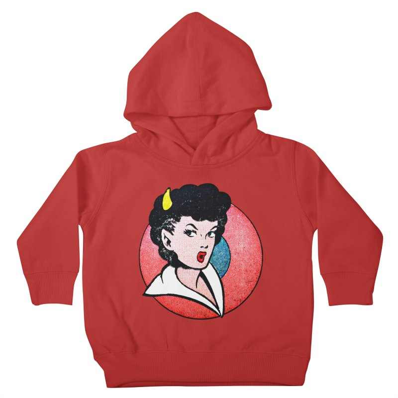 Devil Girl Kids Toddler Pullover Hoody by megatrip's Artist Shop