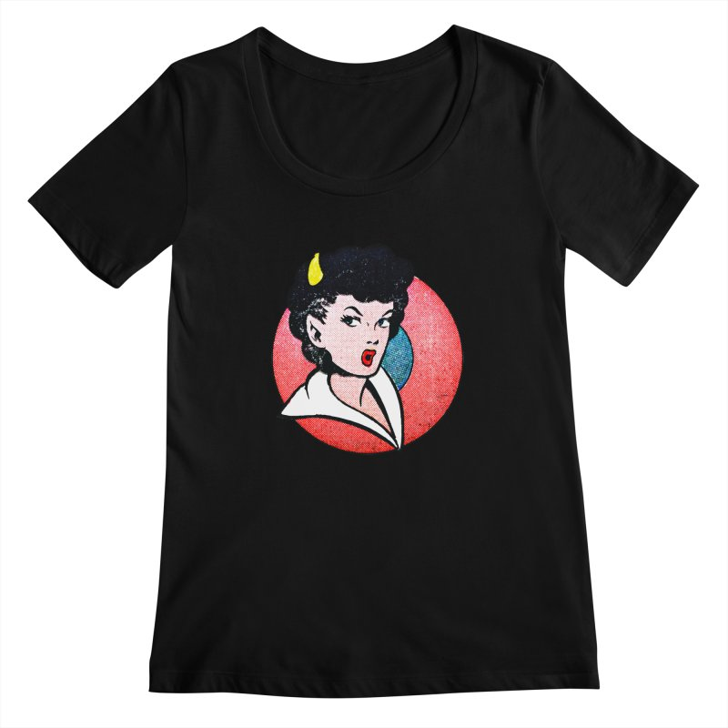 Devil Girl Women's Scoopneck by megatrip's Artist Shop