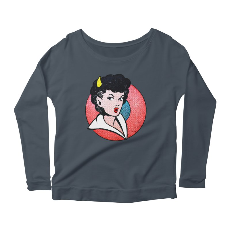 Devil Girl Women's Longsleeve Scoopneck  by megatrip's Artist Shop