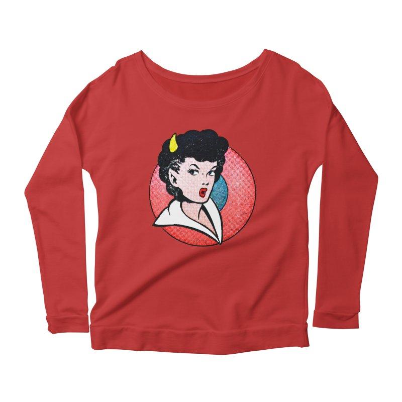 Devil Girl Women's Longsleeve Scoopneck  by megatrip's Artist Shop