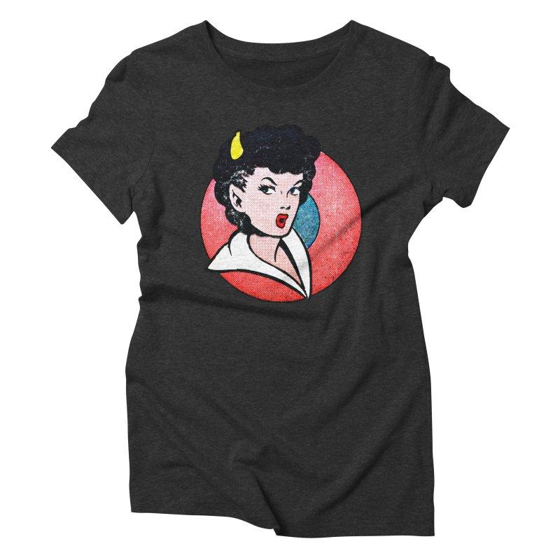 Devil Girl Women's Triblend T-Shirt by megatrip's Artist Shop