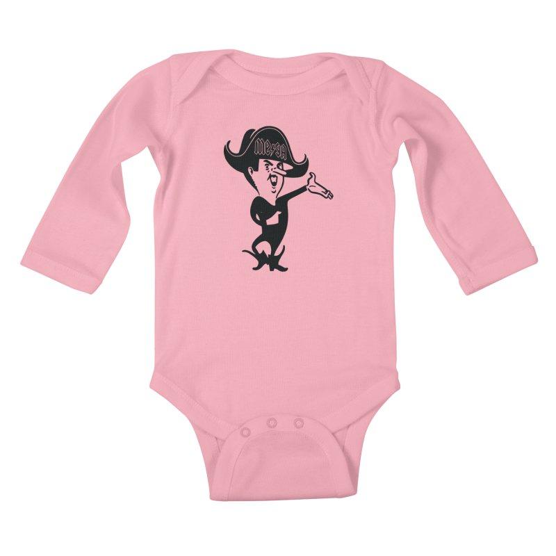 Ahoy There - Pirate Megatrip Kids Baby Longsleeve Bodysuit by megatrip's Artist Shop