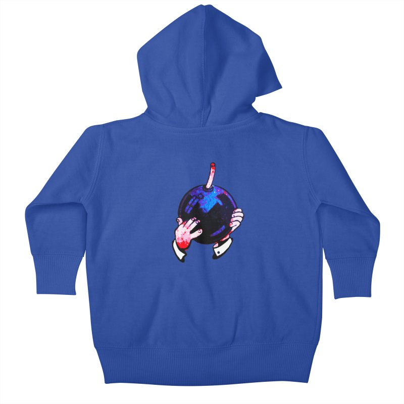 Short Fuse Kids Baby Zip-Up Hoody by megatrip's Artist Shop