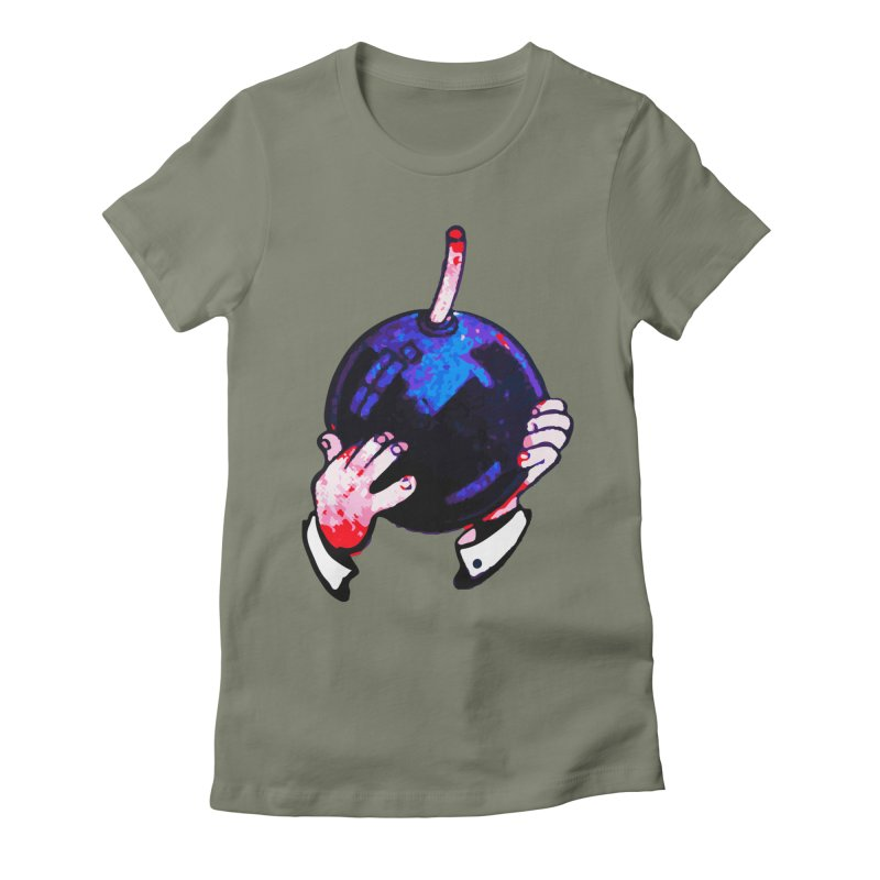Short Fuse Women's Fitted T-Shirt by megatrip's Artist Shop