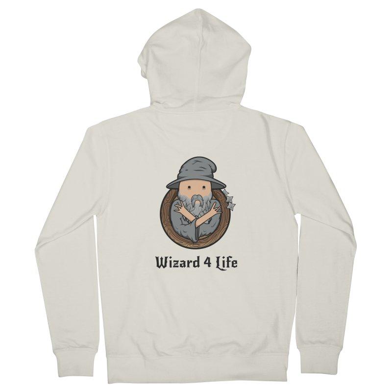 Wizard 4 Life Women's Zip-Up Hoody by megawizard's Artist Shop