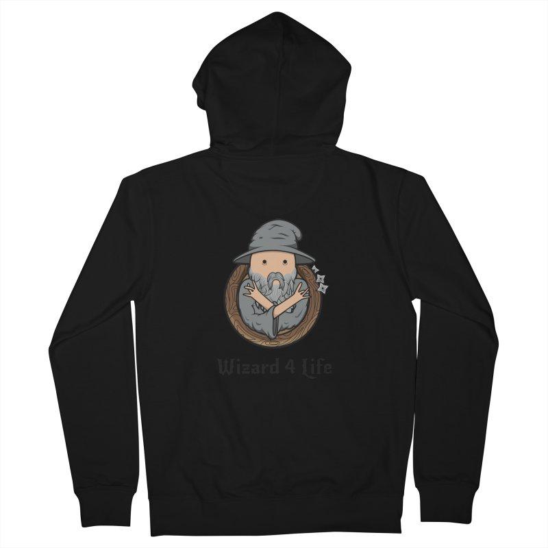 Wizard 4 Life Men's Zip-Up Hoody by megawizard's Artist Shop