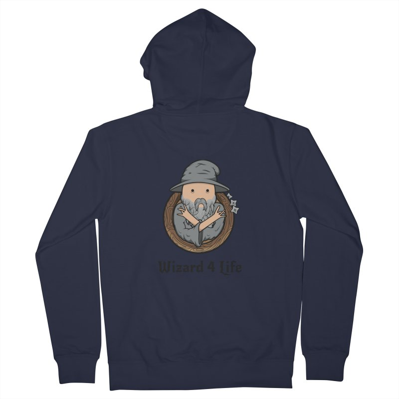 Wizard 4 Life Men's Zip-Up Hoody by megawizard's Artist Shop