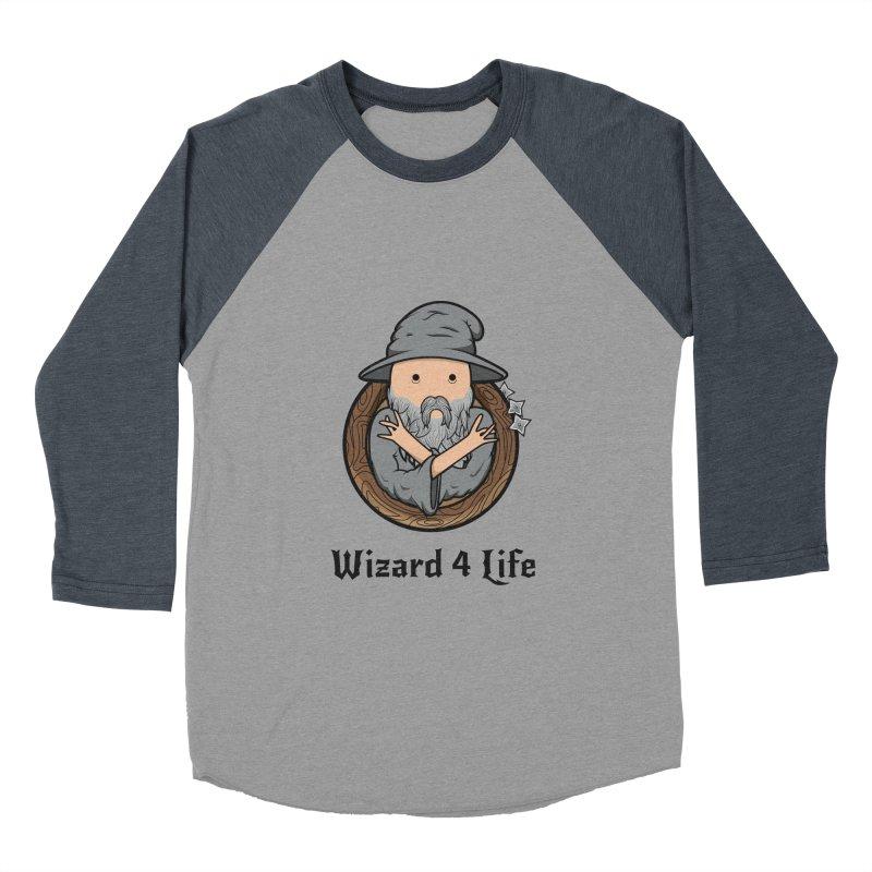 Wizard 4 Life Men's Baseball Triblend T-Shirt by megawizard's Artist Shop