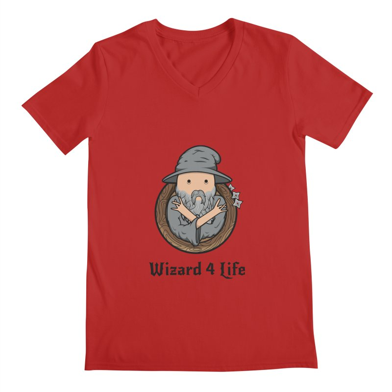 Wizard 4 Life Men's V-Neck by megawizard's Artist Shop