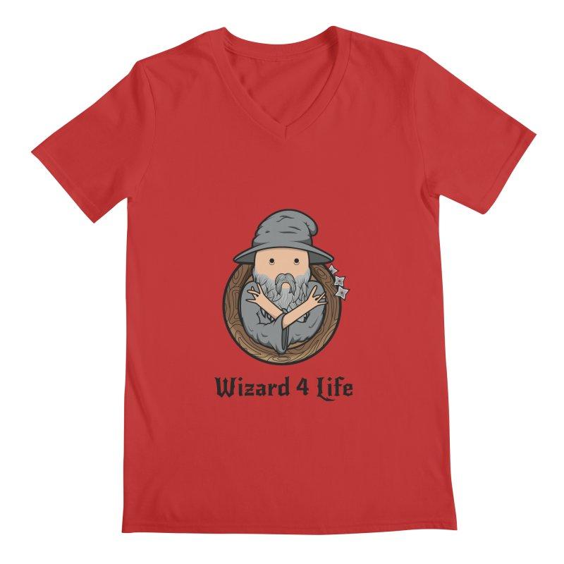 Wizard 4 Life Men's V-Neck by megawizard's Artist Shop