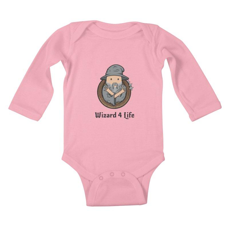 Wizard 4 Life Kids Baby Longsleeve Bodysuit by megawizard's Artist Shop
