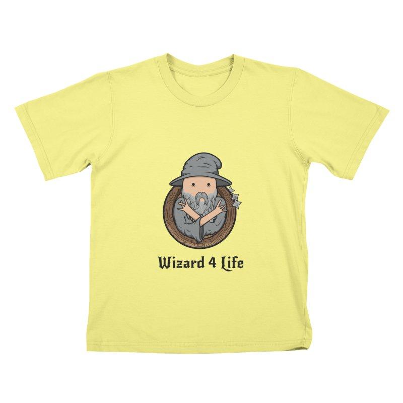 Wizard 4 Life Kids T-shirt by megawizard's Artist Shop