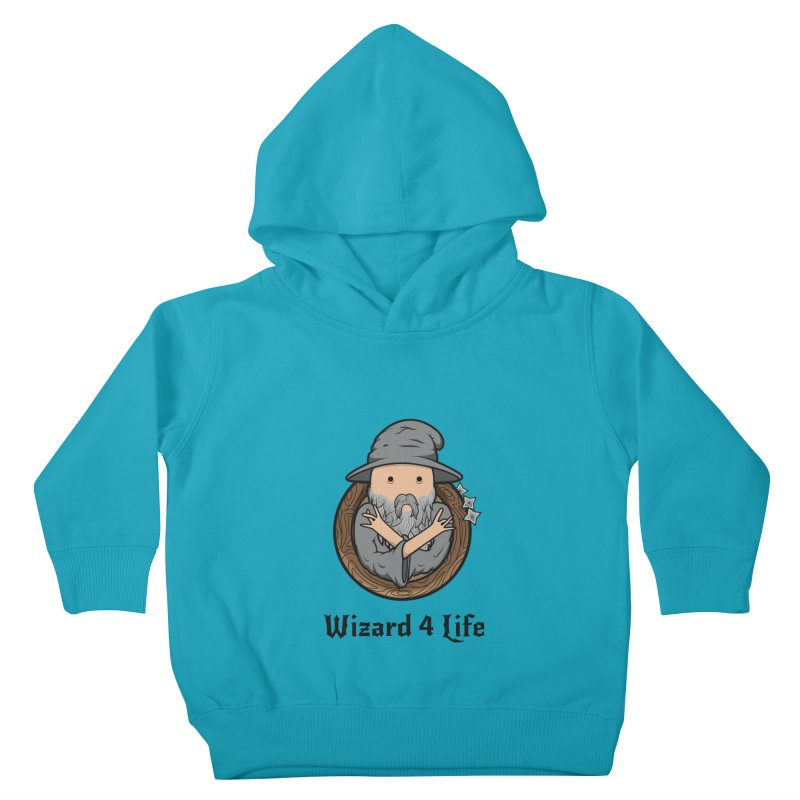 Wizard 4 Life Kids Toddler Pullover Hoody by megawizard's Artist Shop