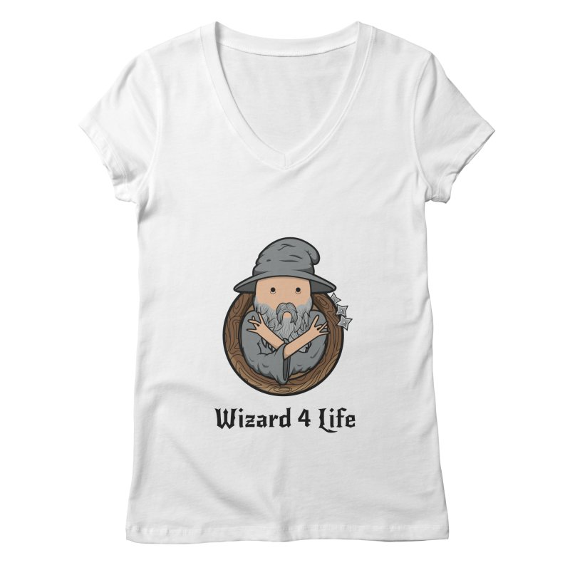 Wizard 4 Life Women's V-Neck by megawizard's Artist Shop
