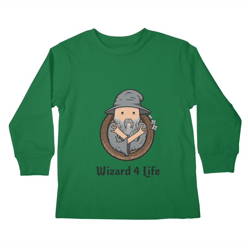Wizard 4 Life Kids Longsleeve T-Shirt by megawizard's Artist Shop