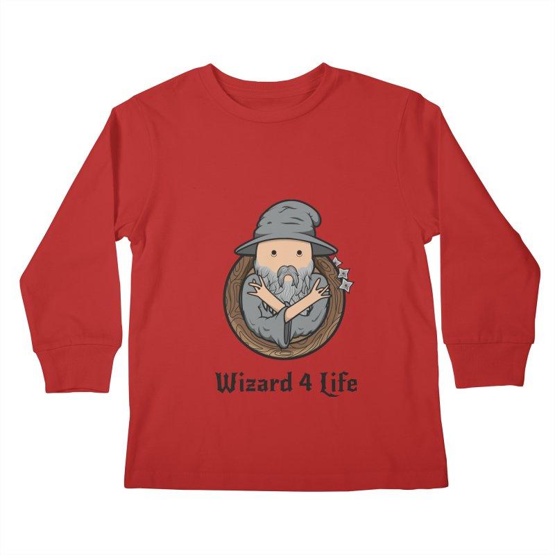 Wizard 4 Life Kids Longsleeve T-Shirt by megawizard's Artist Shop
