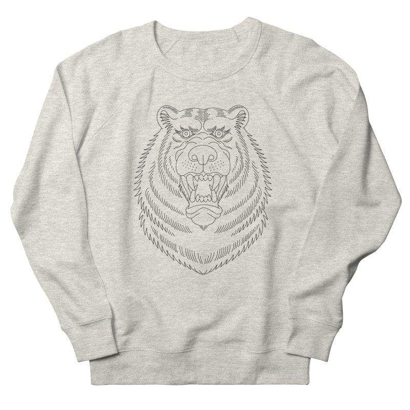 Bear Black Line Graphic Women's Sweatshirt by Wild Wilderness Artist Shop
