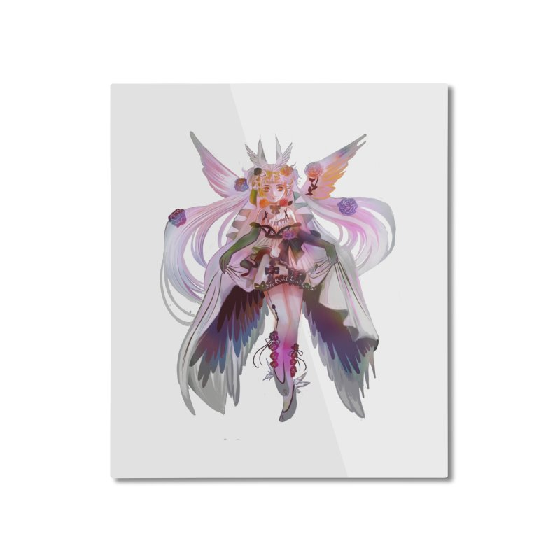 Marapraline lenaria cute wing manga girl Home Mounted Aluminum Print by meisanmui's Artist Shop