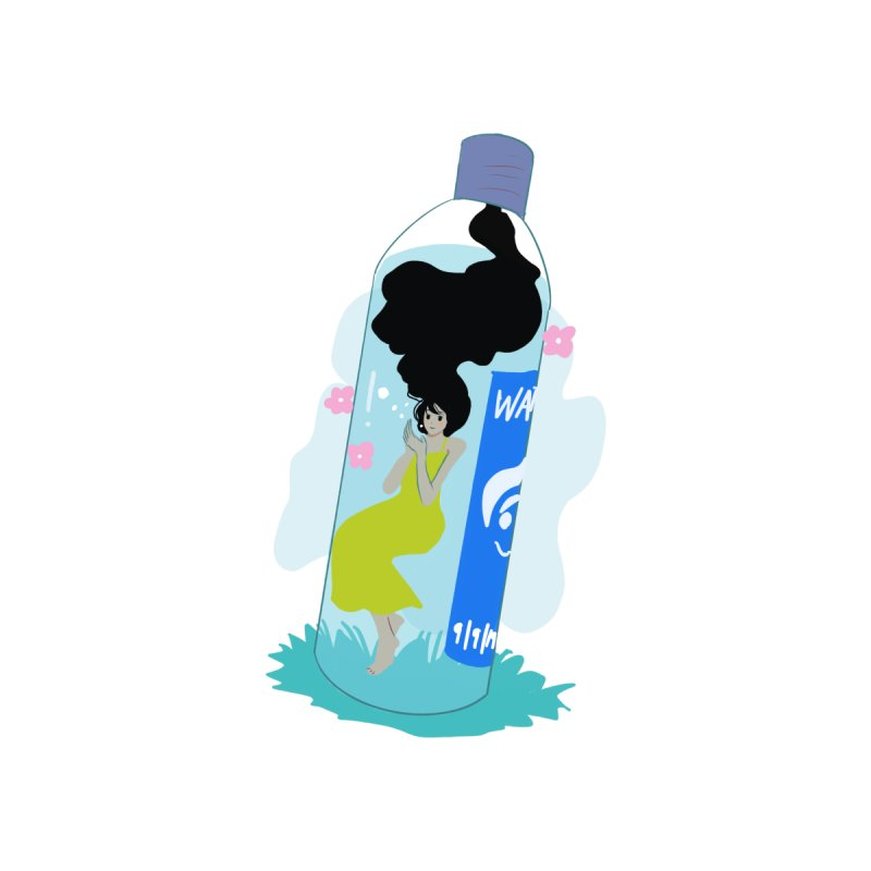manga girl in pastel bottle Accessories Bag by meisanmui's Artist Shop