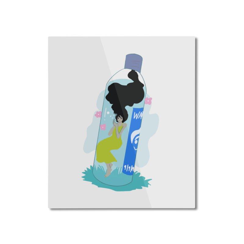 manga girl in pastel bottle Home Mounted Aluminum Print by meisanmui's Artist Shop