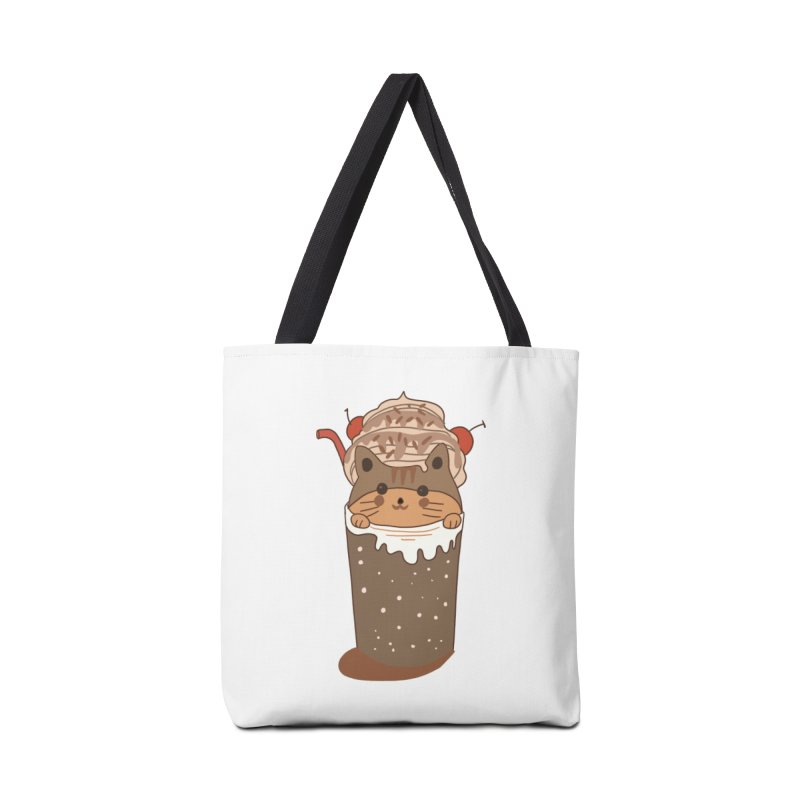 cat in a cofffee cup Accessories Bag by meisanmui's Artist Shop