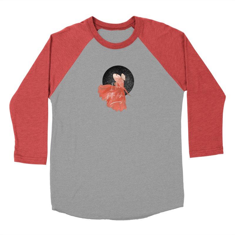 I love betta fish Men's Longsleeve T-Shirt by meisanmui's Artist Shop
