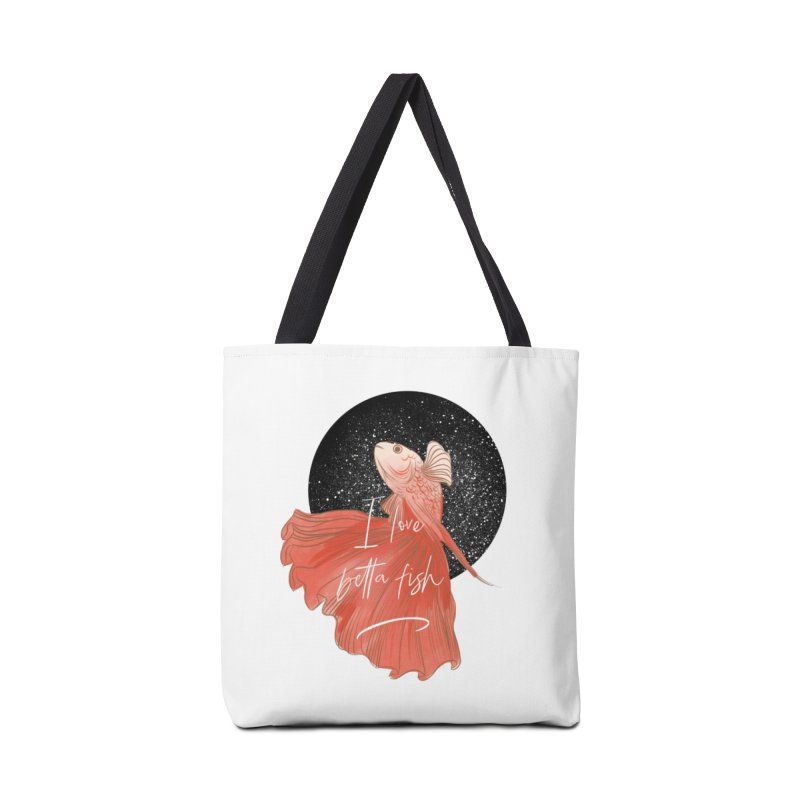 I love betta fish Accessories Bag by meisanmui's Artist Shop