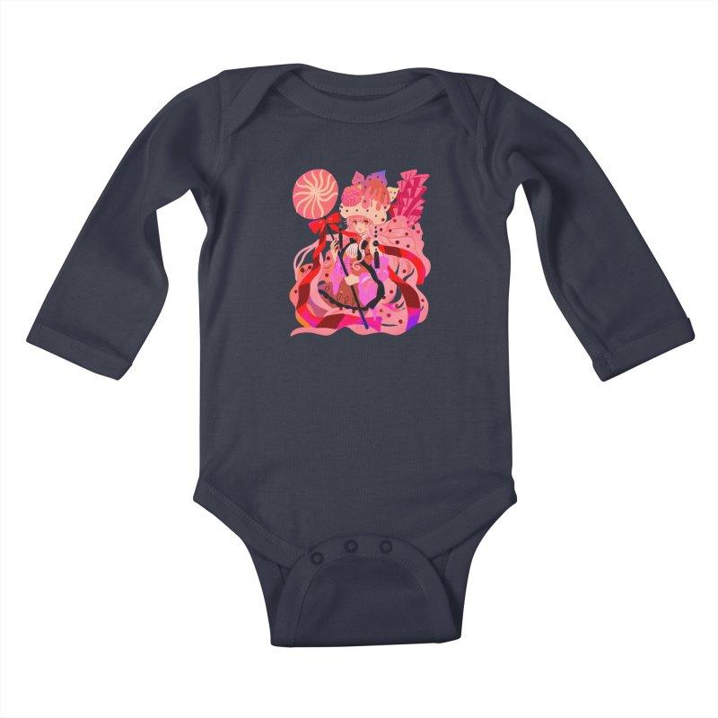 Chocolate Raspberry Cupcake Kids Baby Longsleeve Bodysuit by meisanmui's Artist Shop