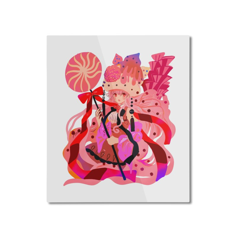 Chocolate Raspberry Cupcake Home Mounted Aluminum Print by meisanmui's Artist Shop