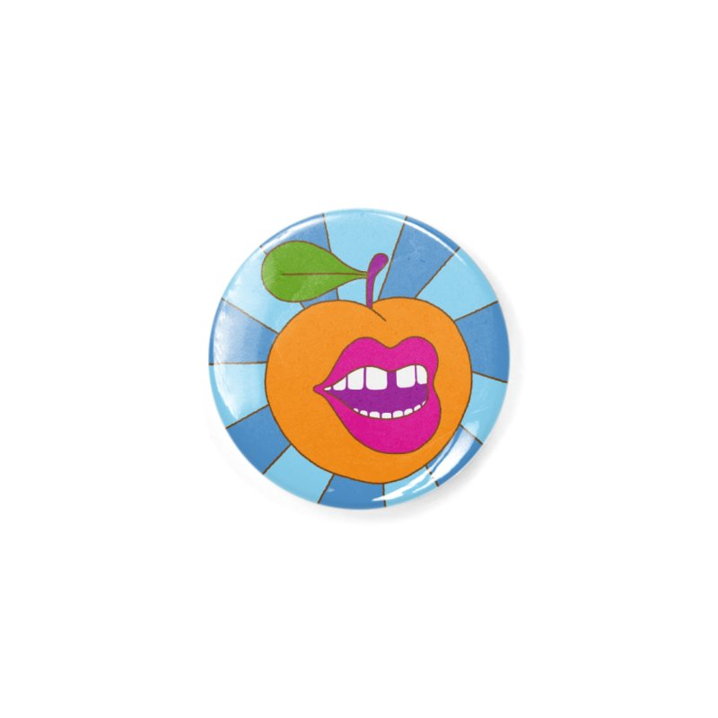 Go Georgia Peach Accessories Button by Melinda Beck