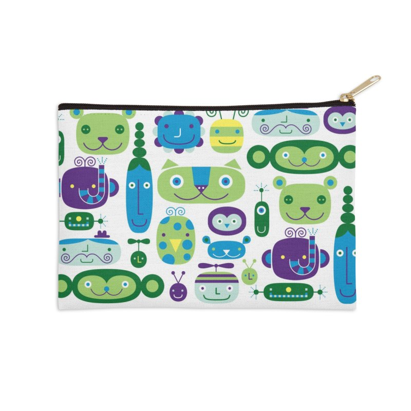 Friends Accessories Zip Pouch by Melinda Beck