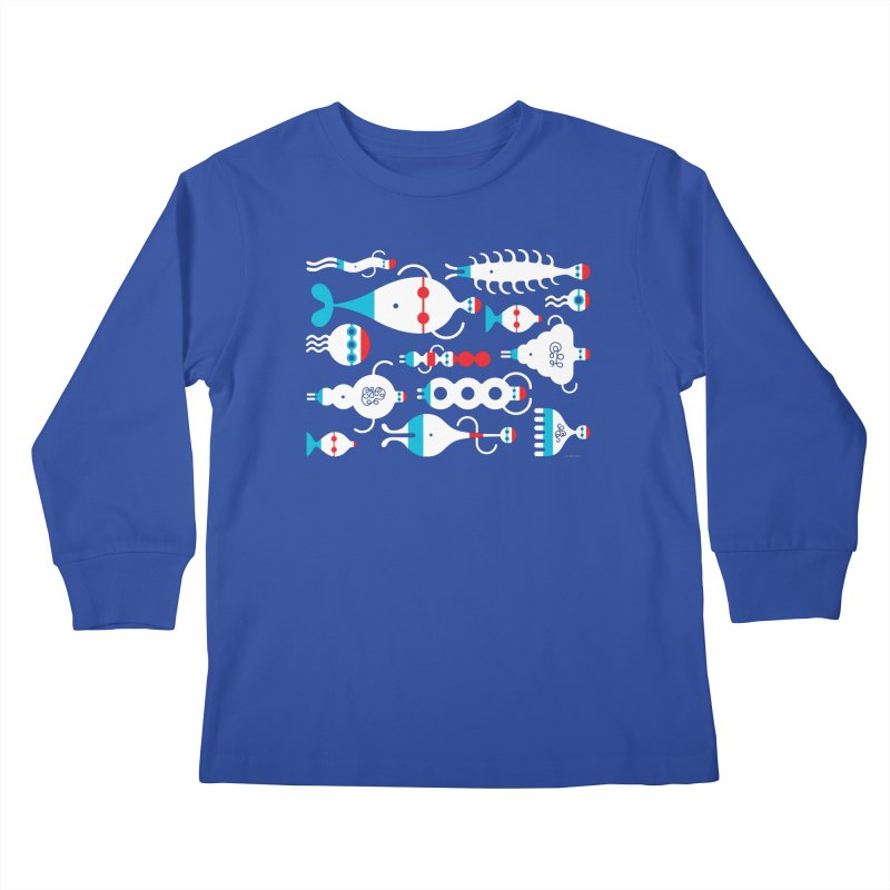 Swimmie Swimmers Kids Longsleeve T-Shirt by Melinda Beck