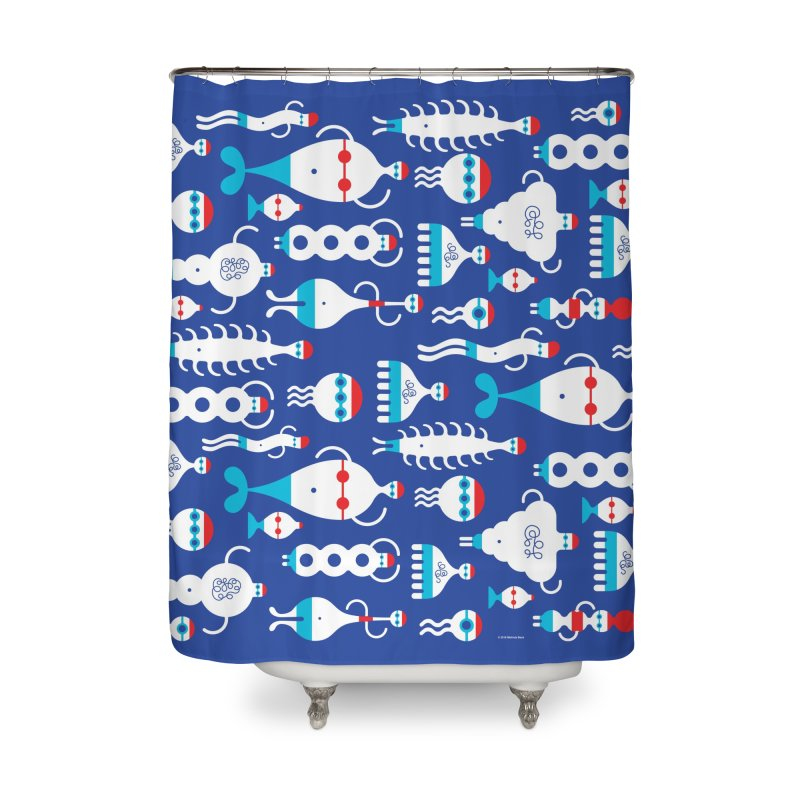 Swimmie Swimmers Home Shower Curtain by Melinda Beck