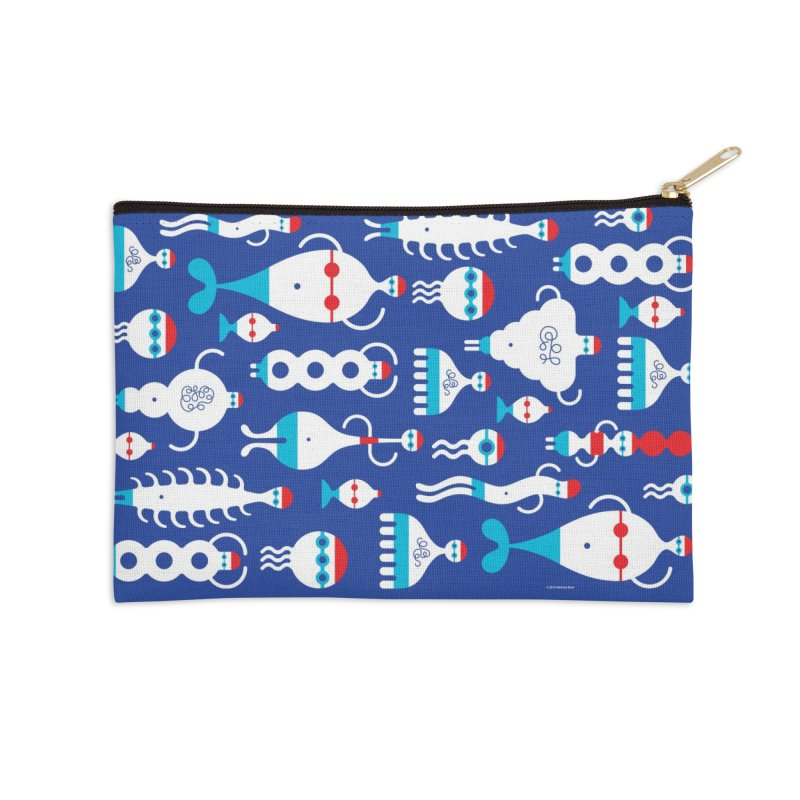Swimmie Swimmers Accessories Zip Pouch by Melinda Beck