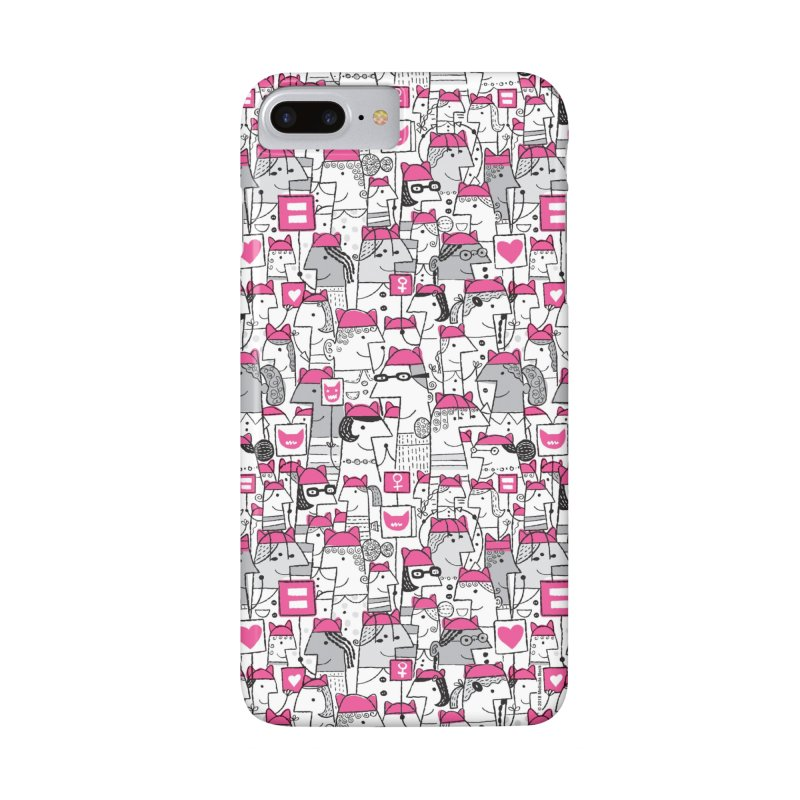 Pussy Pattern in iPhone 8 Plus Phone Case Slim by melindabeck's Artist Shop