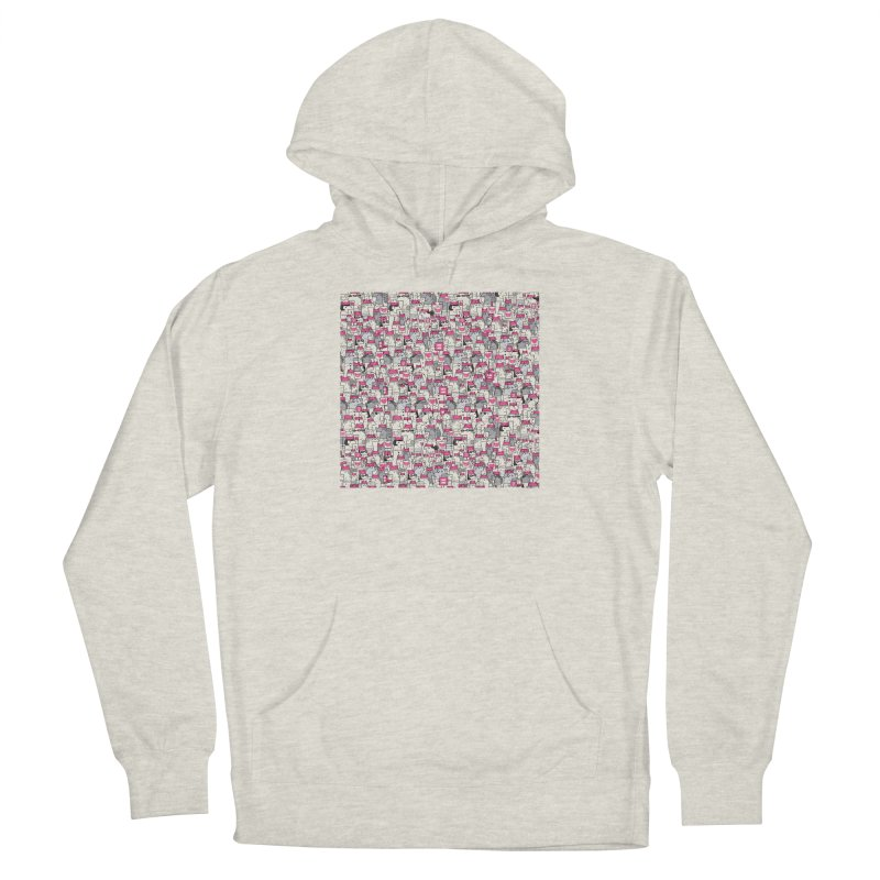 Pussy Pattern Women's Pullover Hoody by Melinda Beck