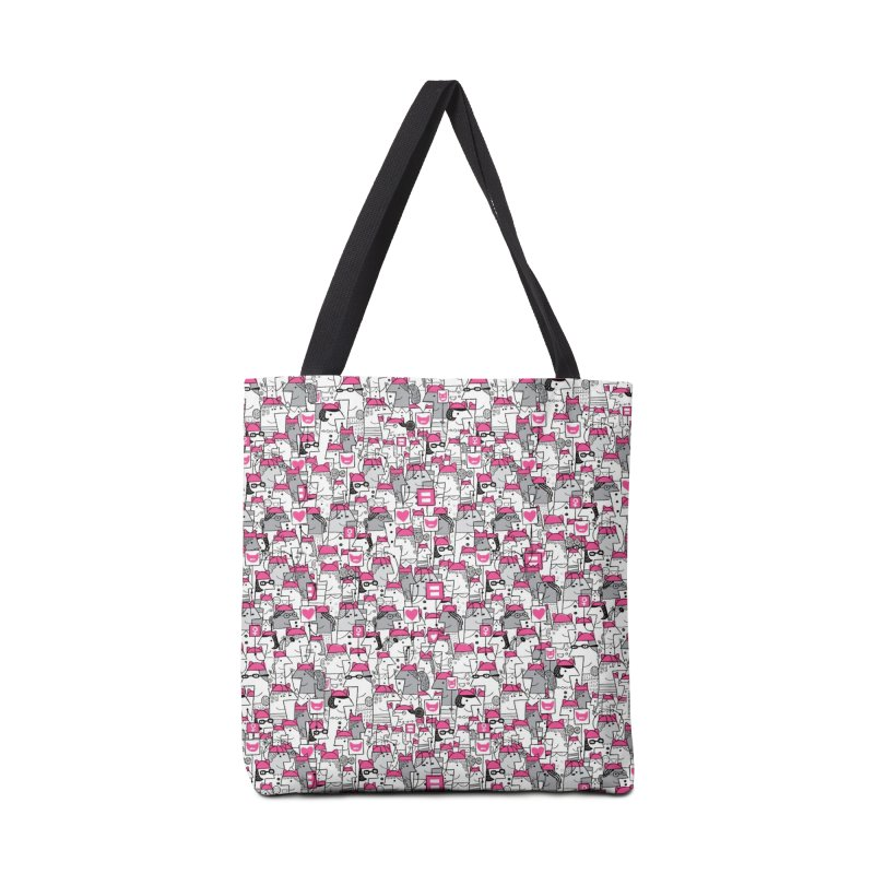 Pussy Pattern Accessories Bag by Melinda Beck