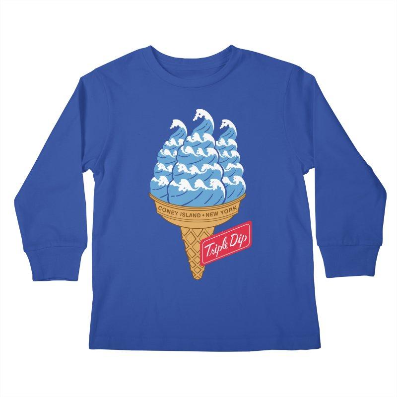 Coney Island Triple Dip Kids Longsleeve T-Shirt by Melinda Beck