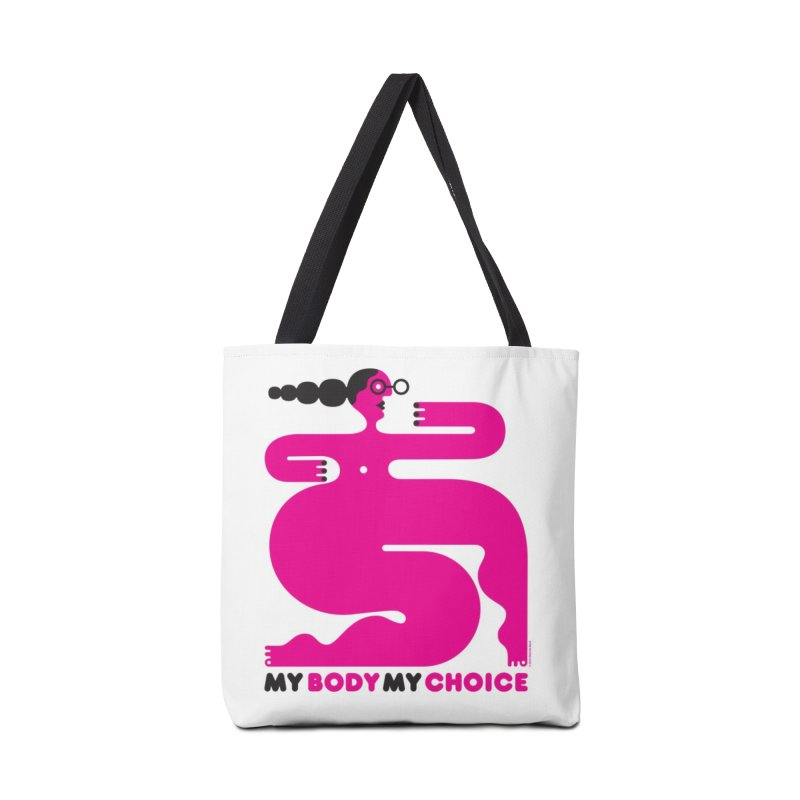 My Body My Choice: Pink Lady (50% of proceeds to Planned Parenthood) Accessories Bag by Melinda Beck