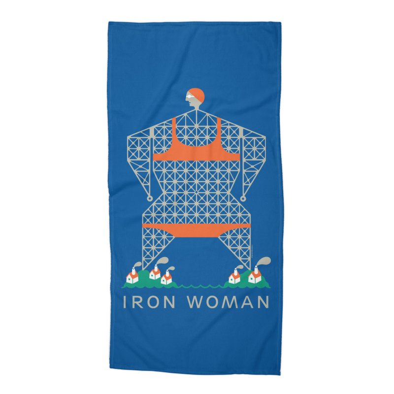 Iron Woman in Beach Towel by melindabeck's Artist Shop