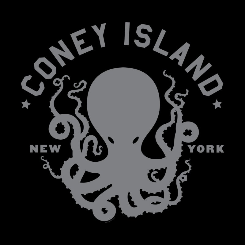 Coney Island Octopus Men's T-Shirt by Melinda Beck
