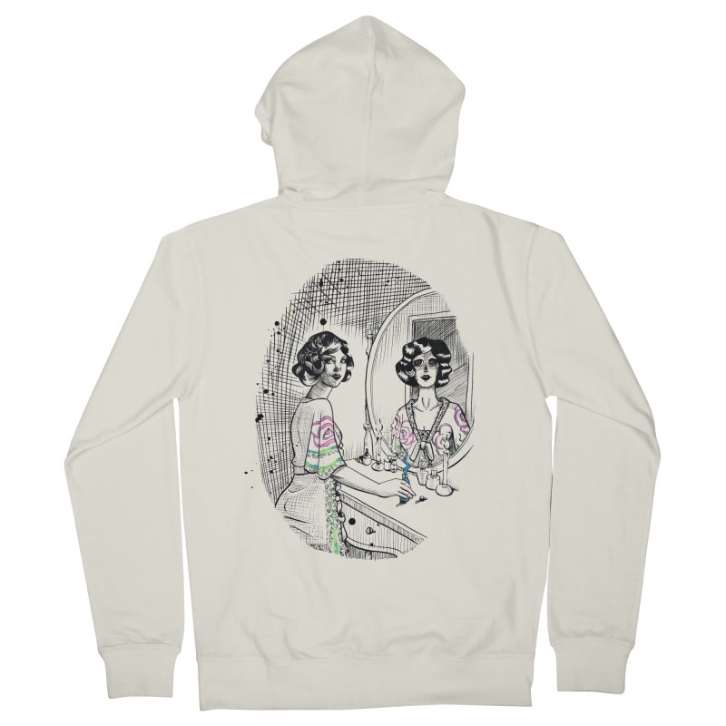 Secrets Women's French Terry Zip-Up Hoody by Melisa Des Rosiers Artist Shop