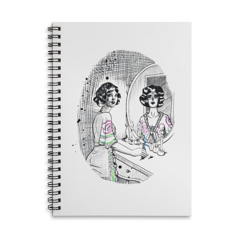 Secrets Accessories Lined Spiral Notebook by Melisa Des Rosiers Artist Shop