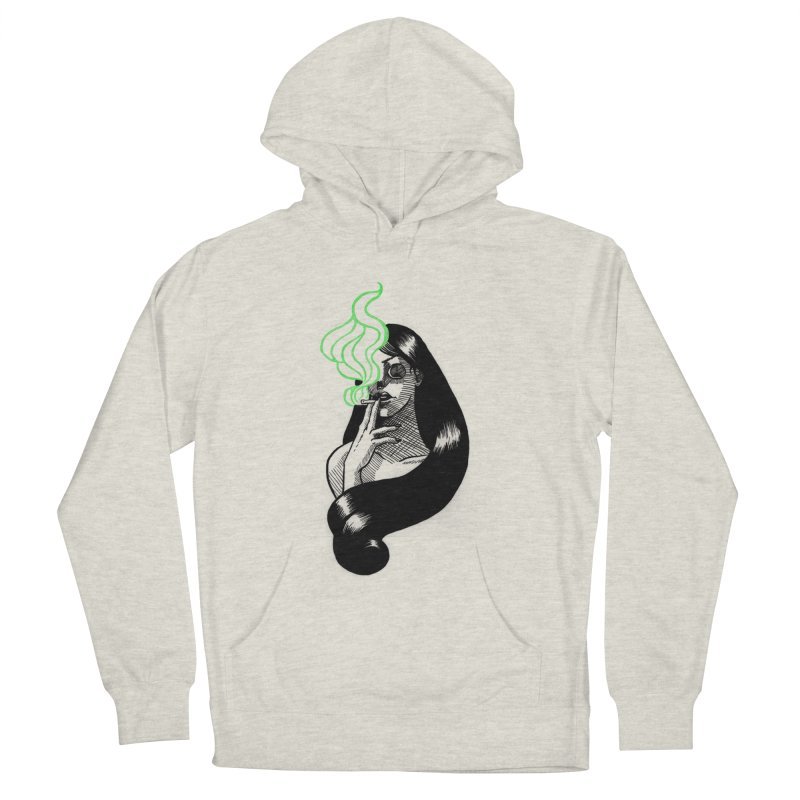 One Last Puff Women's French Terry Pullover Hoody by Melisa Des Rosiers Artist Shop