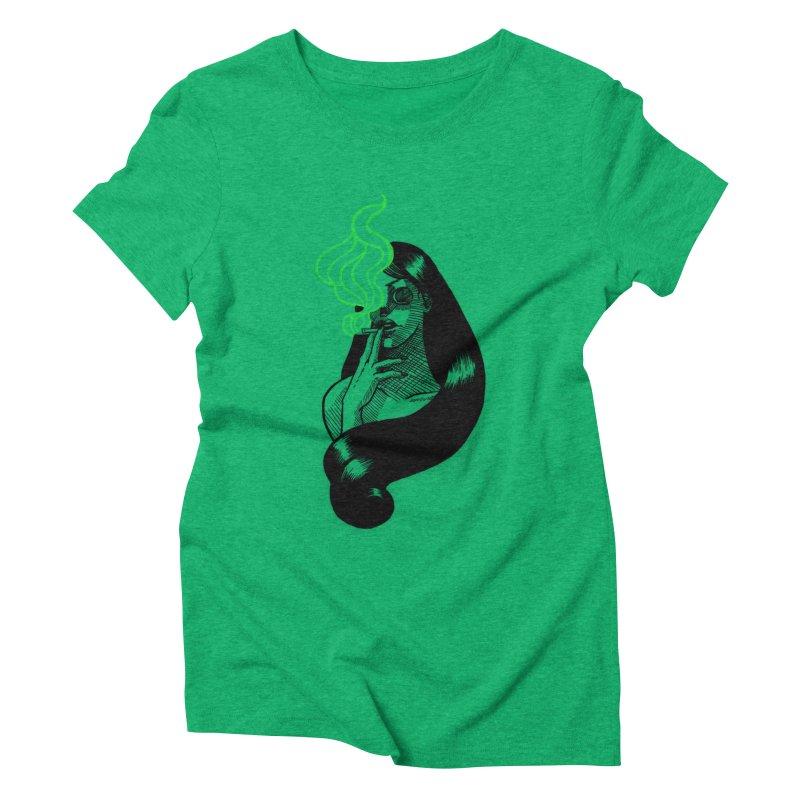 One Last Puff Women's Triblend T-Shirt by Melisa Des Rosiers Artist Shop