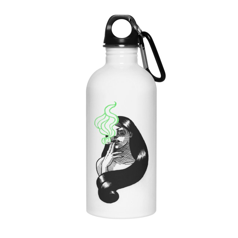 One Last Puff Accessories Water Bottle by Melisa Des Rosiers Artist Shop