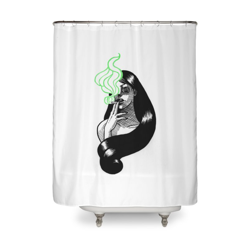 One Last Puff Home Shower Curtain by Melisa Des Rosiers Artist Shop