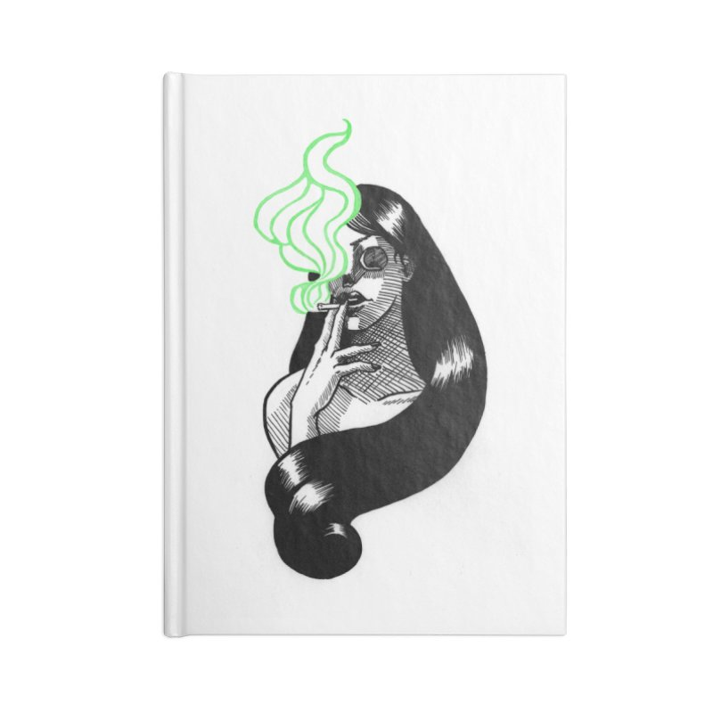 One Last Puff Accessories Lined Journal Notebook by Melisa Des Rosiers Artist Shop